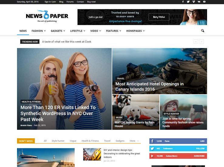 35 Best Wordpress Newspaper Themes 2018
