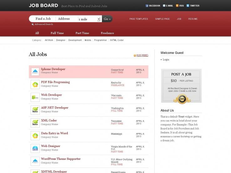 job board joomla themes