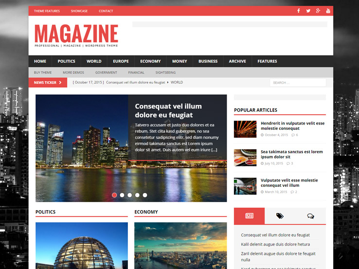 MH Magazine - Multipurpose Newspaper Theme