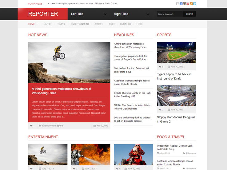 Reporter by DesignerThemes