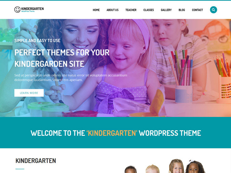 Kindergarten Theme for Children School