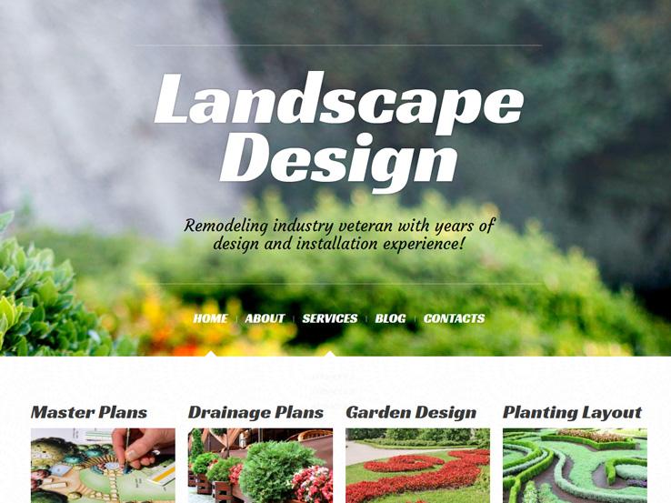 Landscape Design Alive - Responsive and Beautiful