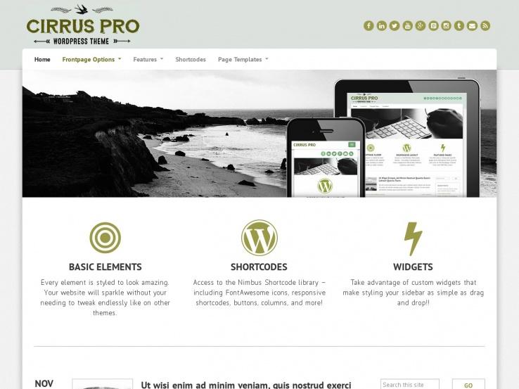 Cirrus Pro by Nimbus Themes