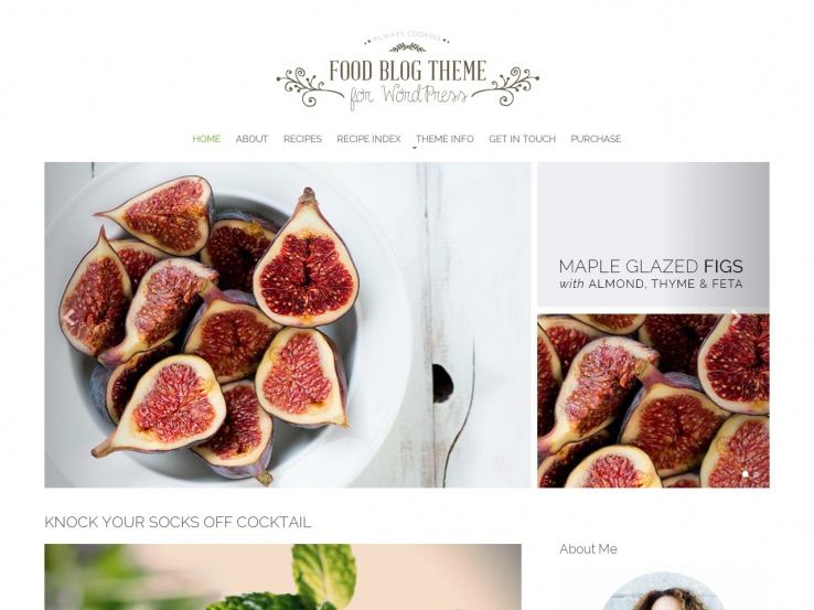Food Blog Theme by Nimbus Themes