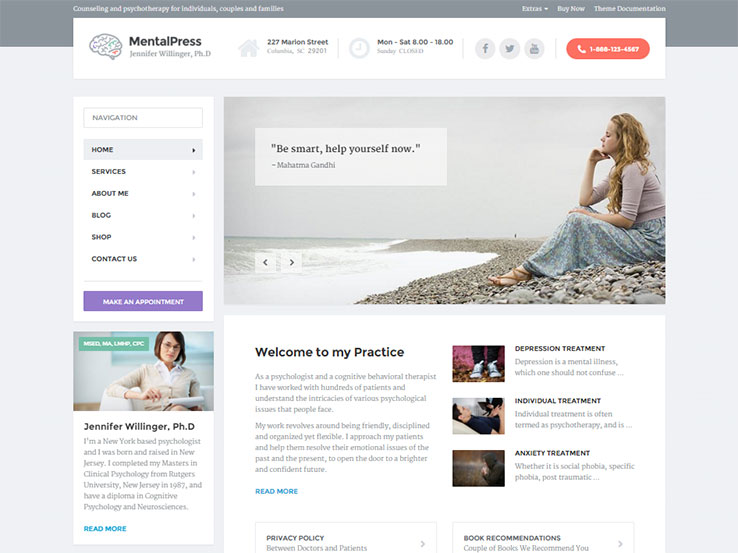 MentalPress Psychiatry Theme