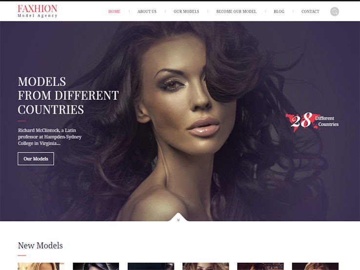 Faxhion - Model Agency Theme