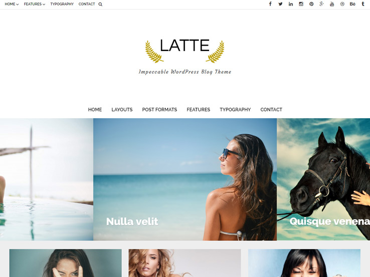 Latte - Responsive Blog Theme
