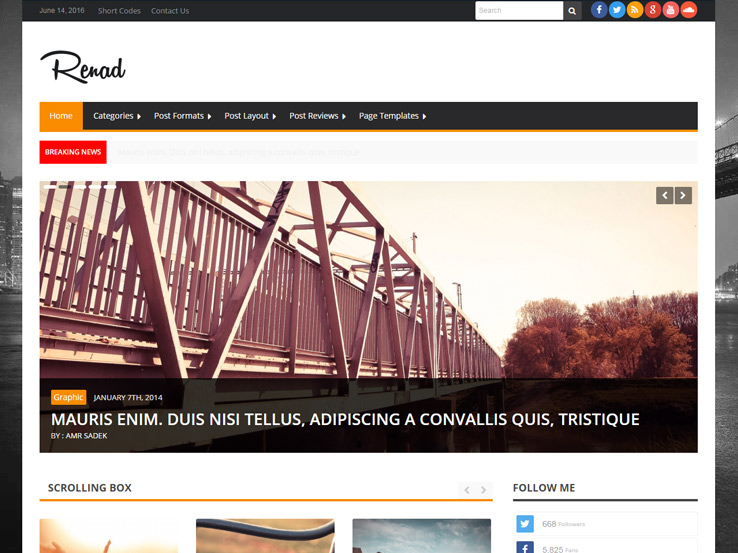 News Renad - News Magazine WordPress Theme