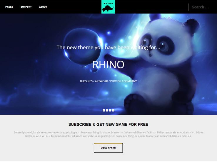 Rhino - Gaming News Theme