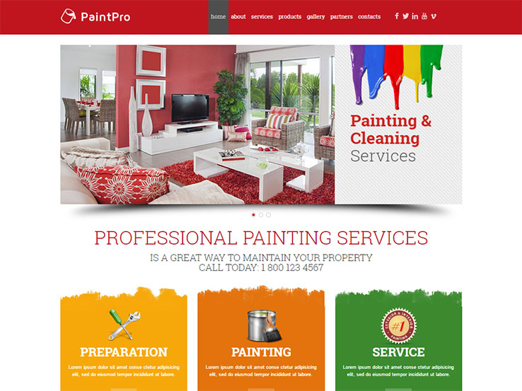 13+ Colorful WordPress Themes for Painters 2017