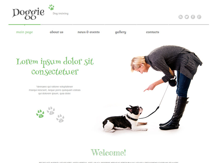 Doggie - Responsive Dog Training Theme