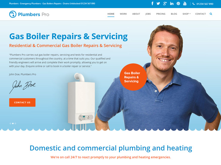 Plumber Pro by Frogthemes
