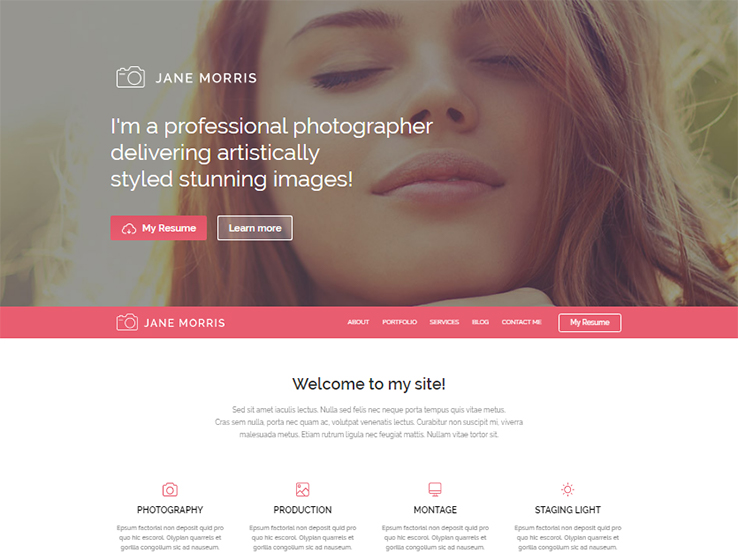Jane Morris - Photography/Portfolio WordPress Theme