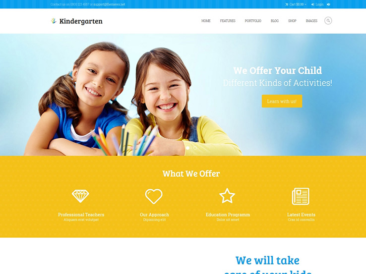 Playful And Colorful WordPress Themes For A Kids Website
