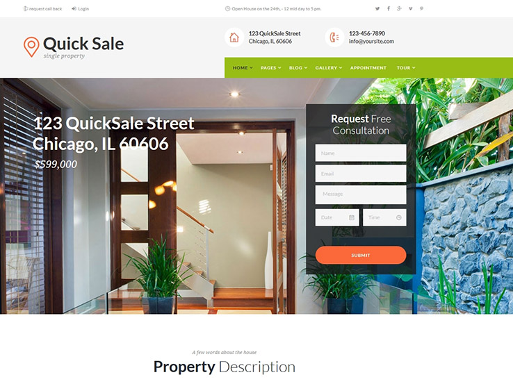 Best Responsive Real Estate WordPress Themes - Real estate wholesale website templates
