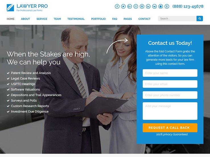 Lawyer Landing Page Pro