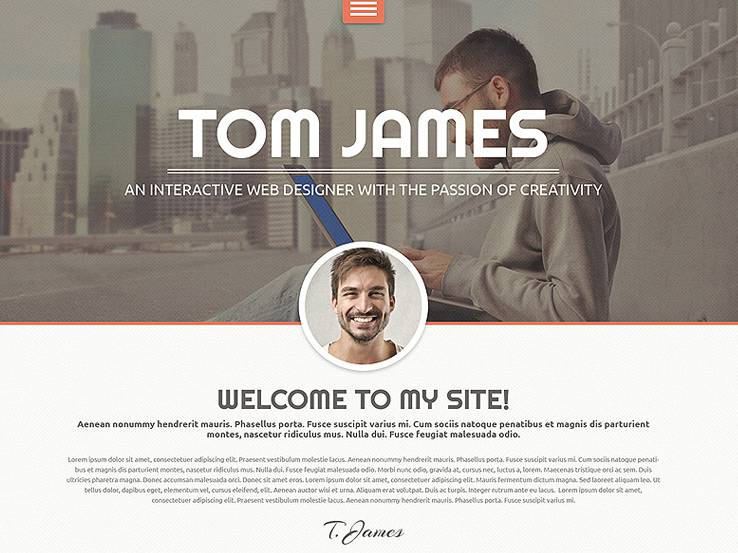 55 best wordpress resume themes 2017 - Wordpress Resume Template