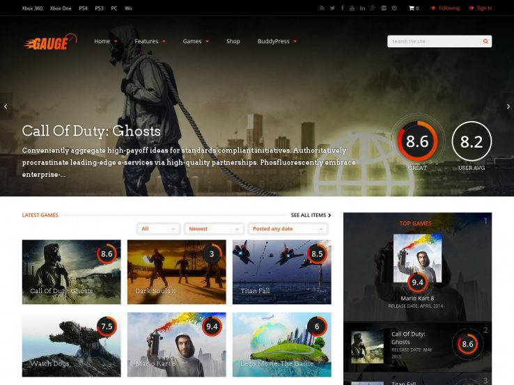 35+ Best WordPress Gaming Themes 2018