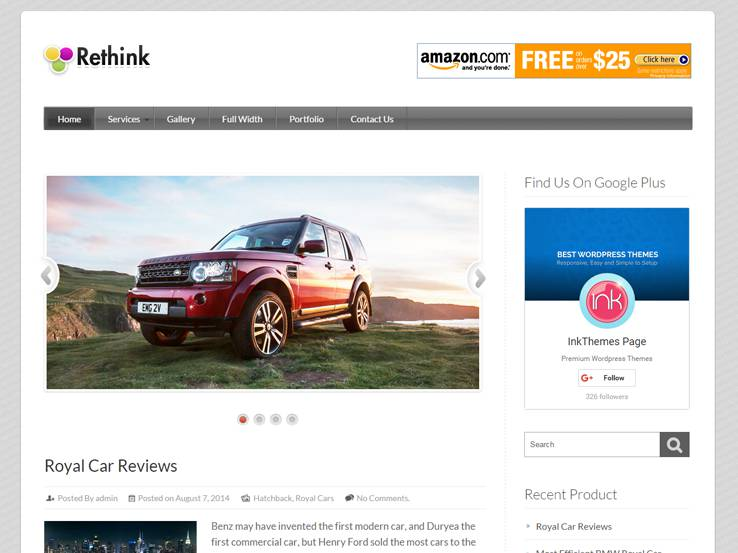 Rethink Product Review Theme