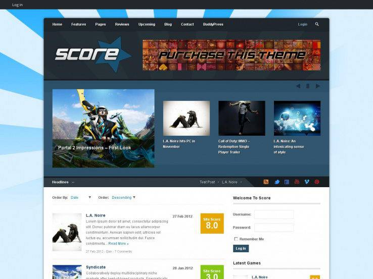 Score: Review & BuddyPress Theme
