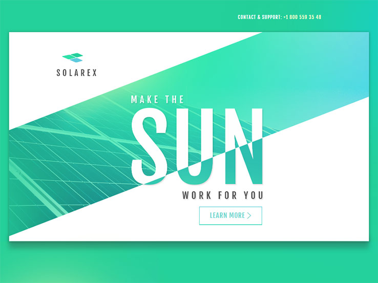 Solar Energy Landing Page Theme