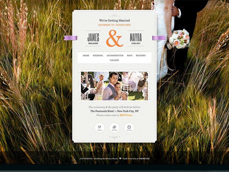 48 Best Wordpress Wedding Themes 2019