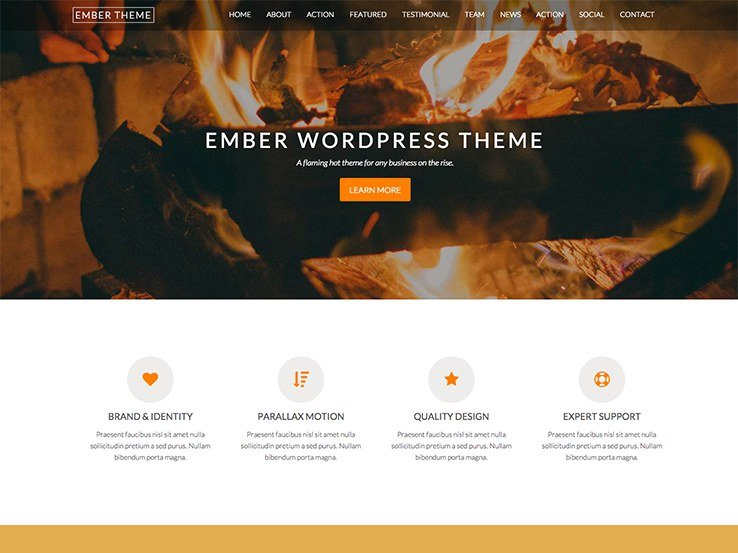 50 small business wordpress themes for startups 2018 ember cheaphphosting Gallery