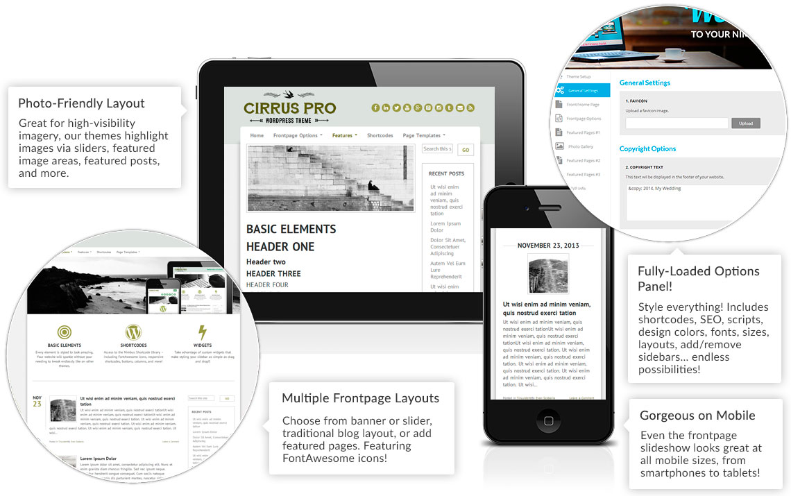 Cirrus Theme Features