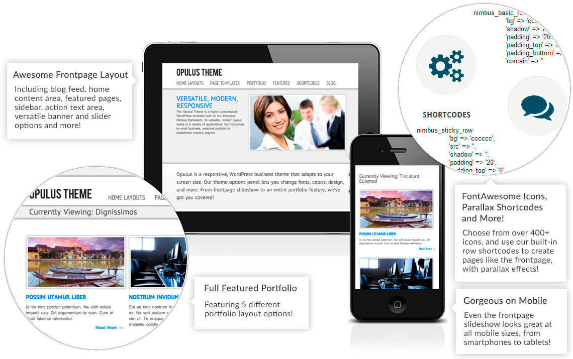 Opulus Theme Features