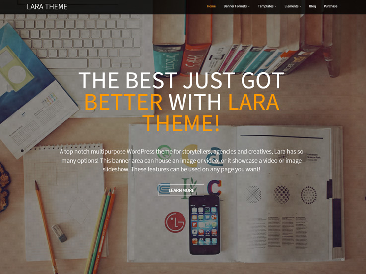 Lara Multi-Purpose Landing Page