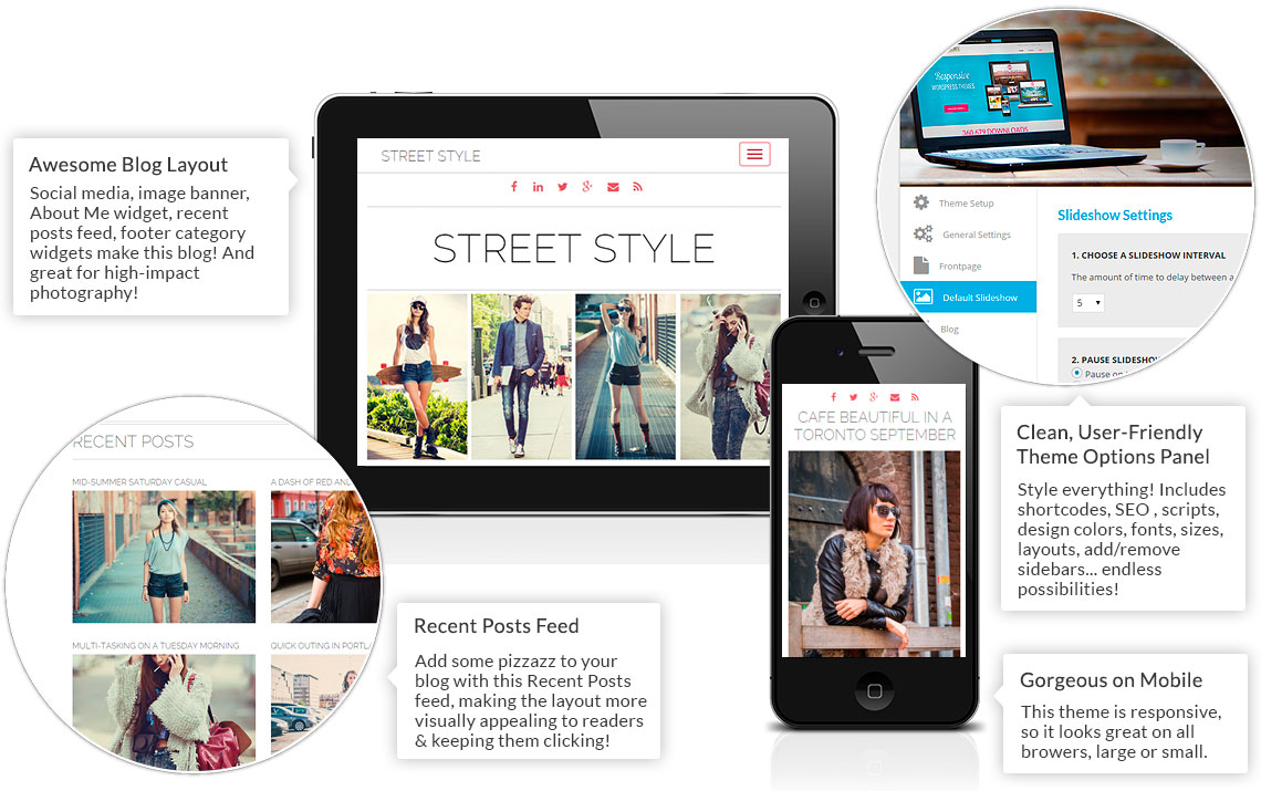 Street Style Theme Features