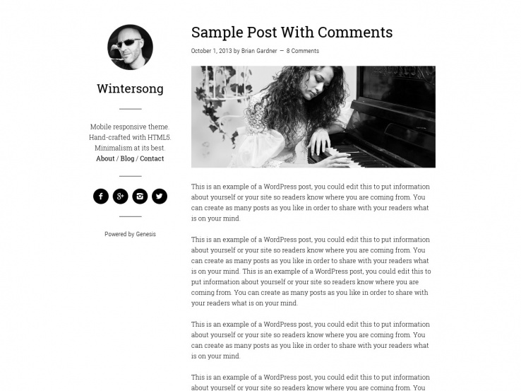 80 best wordpress personal blog themes 2018 for Free blogger templates for writers