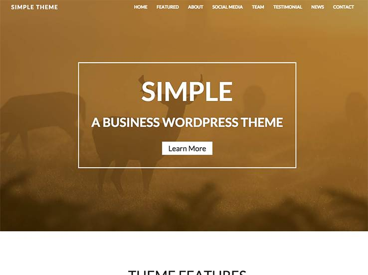 Simple One Page Theme