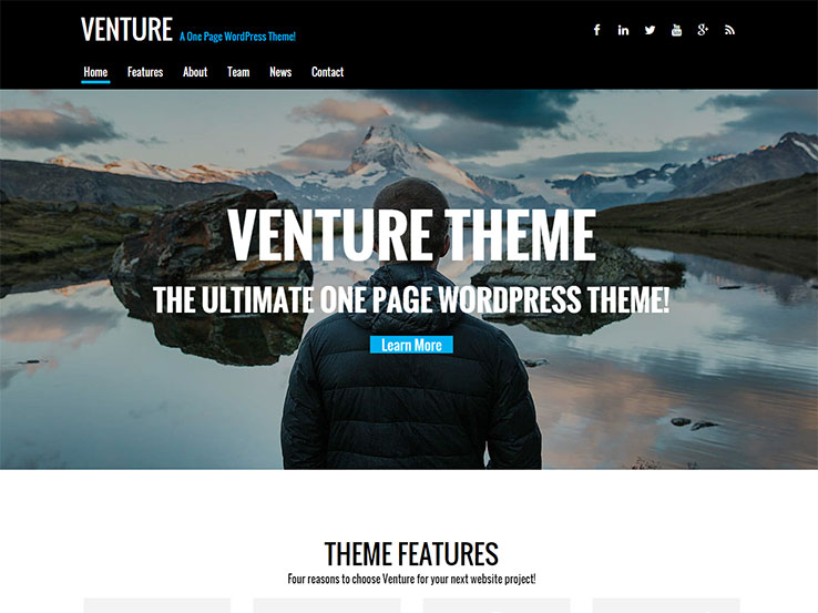 Venture An Agency Theme